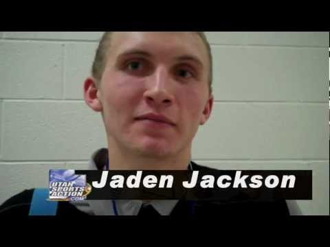 High school basketball: Jaden Jackson (West Jordan Jaguars) post-game interview 12-15-11.