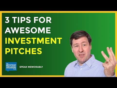 Investment Pitch Tips - How to Get Funding From Top VCs
