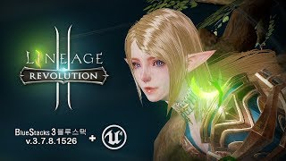 Lineage 2: Revolution - Bluestacks 3 HD Graphics - Android on PC - Mobile - F2P - KR