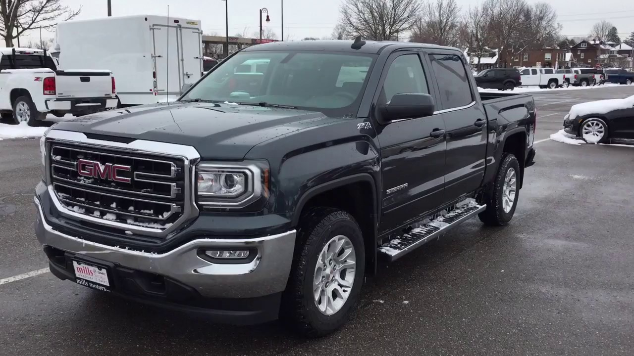 2017 Gmc Sierra 1500 4wd Sle Crew Cab Kodiak Edition Dark Slate Oshawa On Stock 170668