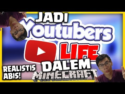 BELAJAR JADI YOUTUBER DALAM MINECRAFT, REAL BANGET!!! - Minecraft Youtubers Life Indonesia