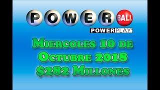 Gambar cover Resultados Powerball10 de Octubre 2018 $282 Millones de Dolares Powerball en Español