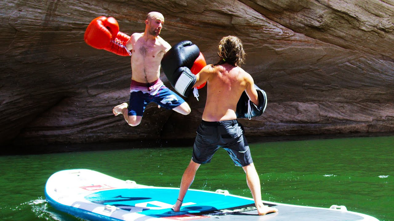 Paddle board boxing