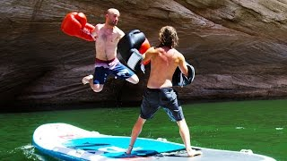 Paddle Board Boxing! - KO'd and Drowning! | DEVINSUPERTRAMP