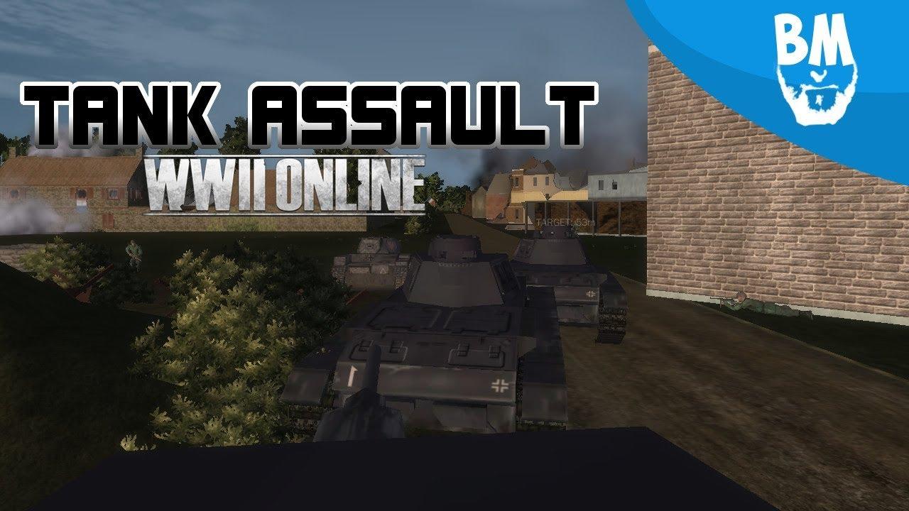 Tank Assault Operation Plunder | World War II Online Gameplay