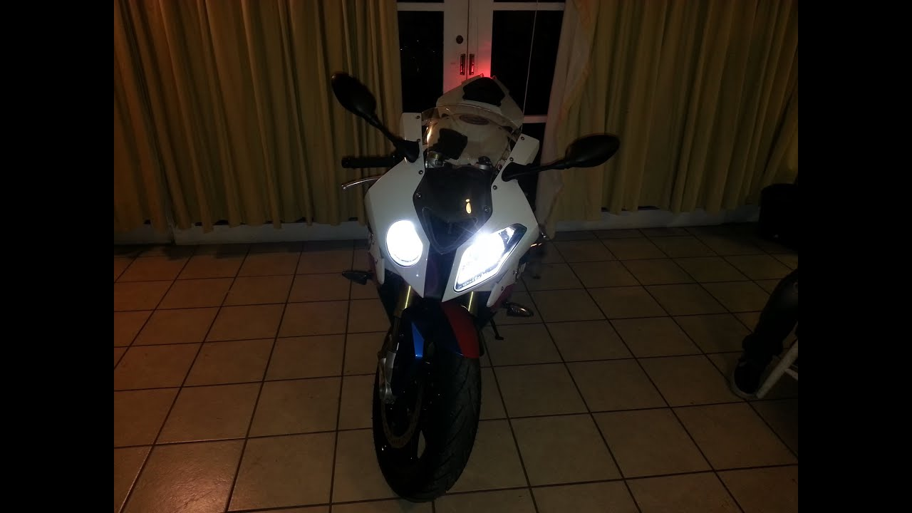 bmw s1000 rr hp4 hid light and led light install [ 1280 x 720 Pixel ]