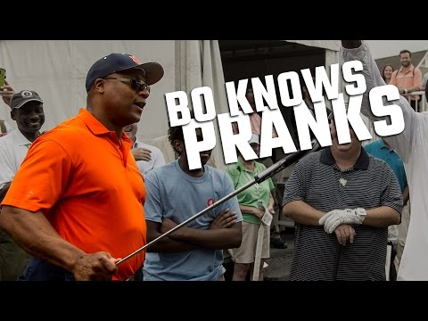 Bo Knows Pranks: Auburn great has some fun with a fan at the Regions Tradition Pro-Am