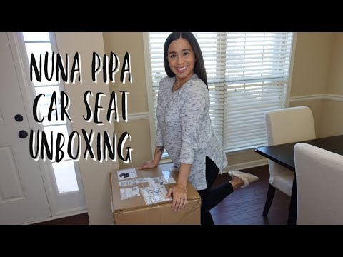 NUNA PIPA CAR SEAT FIRST REACTION | UNBOXING + REVIEW | Krystie Arroyo