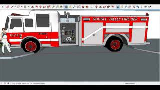 Sketchup- Making a fire station (Part 1)