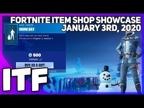 Fortnite Item Shop *NEW* SNOW DAY EMOTE! [January 3rd, 2020] (Fortnite Battle Royale)