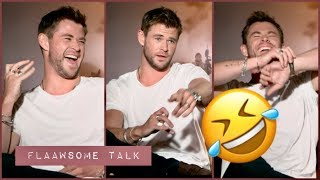 When Chris Hemsworth Can't Stop Laughing About The Embarrassing Wife Question...