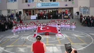 Ela Naz'ın 23 Nisan Hep Seninleyiz Türkiye Gösterisi Şeyh Şamil İlköğretim Okulu Anasınıfı