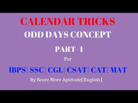 Calendar Problems Concept | Part 1