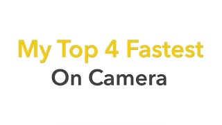 My Top 4 Fastest Solves on Camera