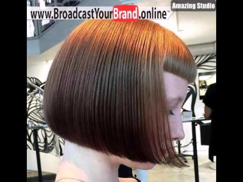 Blunt Chinlength Bob Mit Kurzen Pony Frisur Youtube