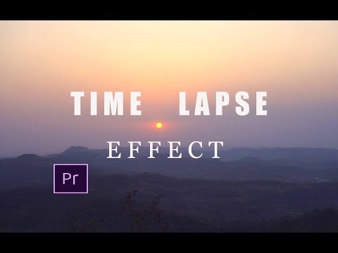 How To Create Timelapse Video From Your Normal Video   Timelapse Effect   Adobe Premier Pro CC