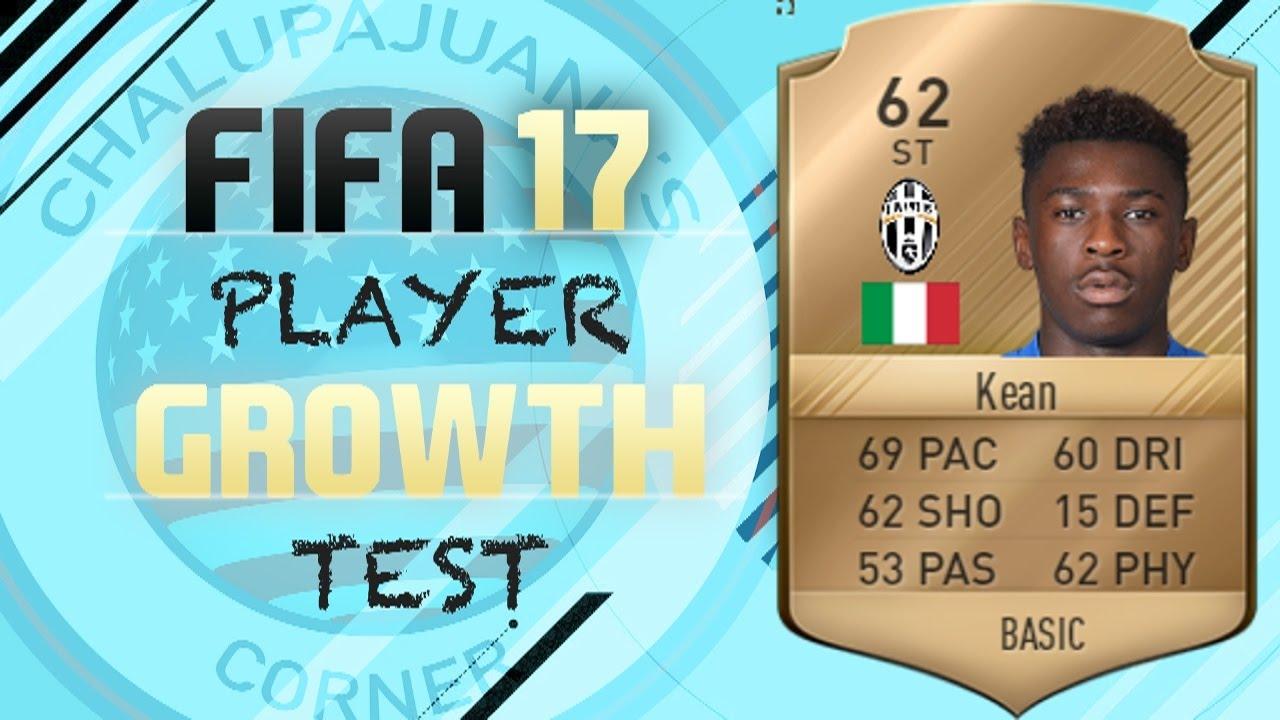 Fifa 17 Moise Kean Growth Test Youtube