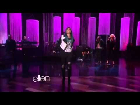 Demi lovato neon lights live at the ellen degeneres show youtube - Ellen show live ...