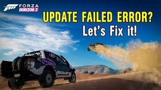 Forza Horizon 3 Opusdev,Elamigos,Corepack,Ultimate Edition Update Failed Screen Permanent FIX