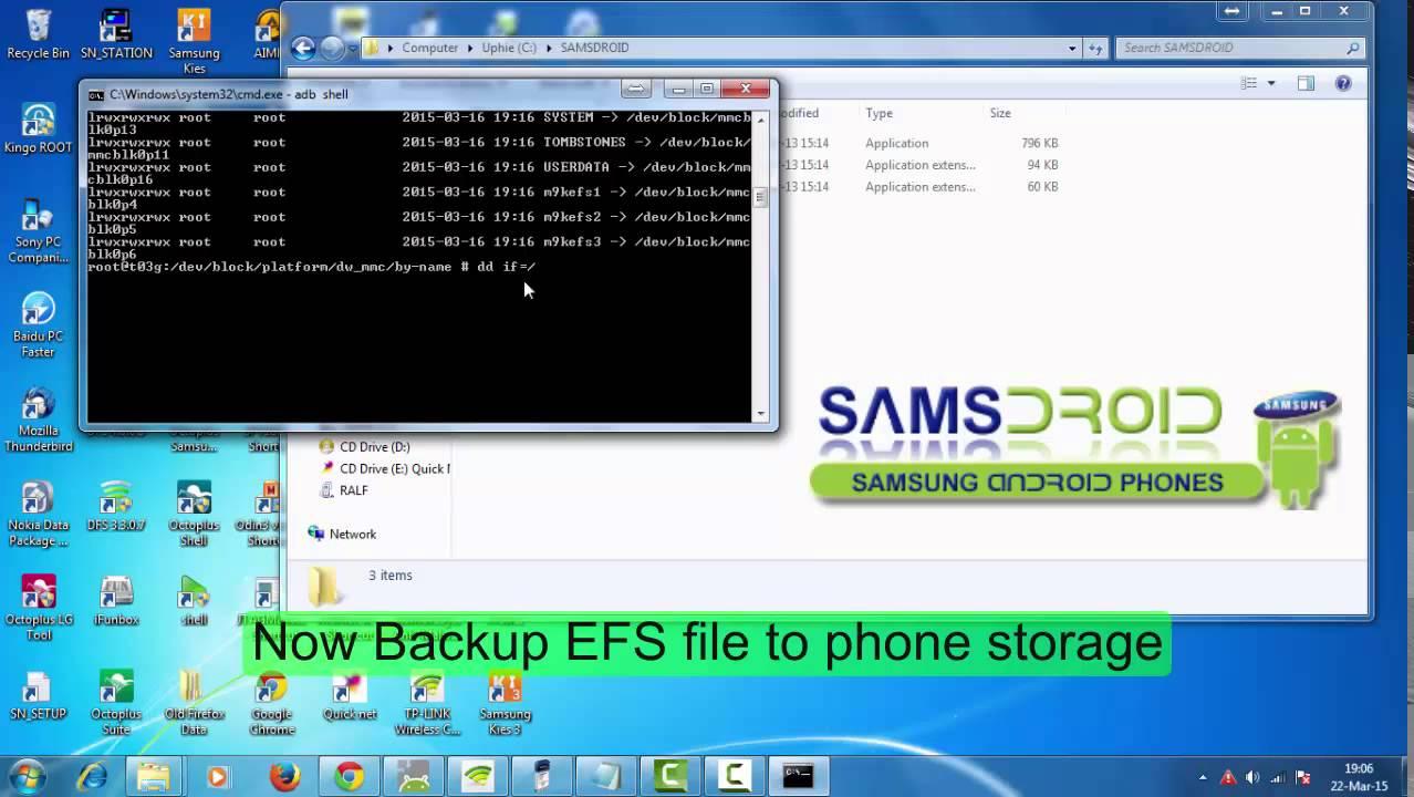 Samsung GT N7100 efs backup
