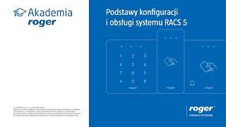 #2 Podstawy konfiguracji i obsługi systemu RACS 5 - ćwiczenia podstawy