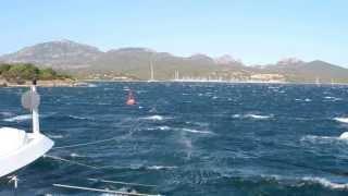 Mistral winds in Porto Rotondo, Sardinia 1)