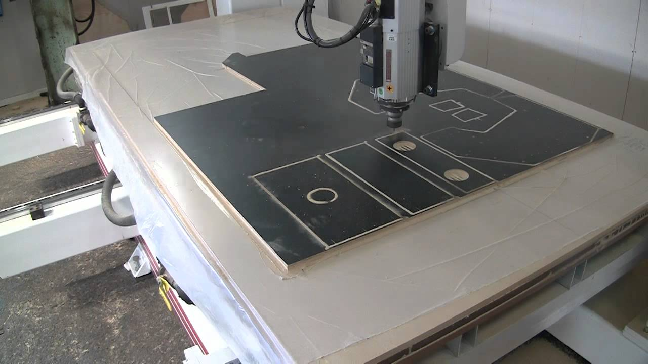 CNC Cutting Neo Geo Bartop - YouTube