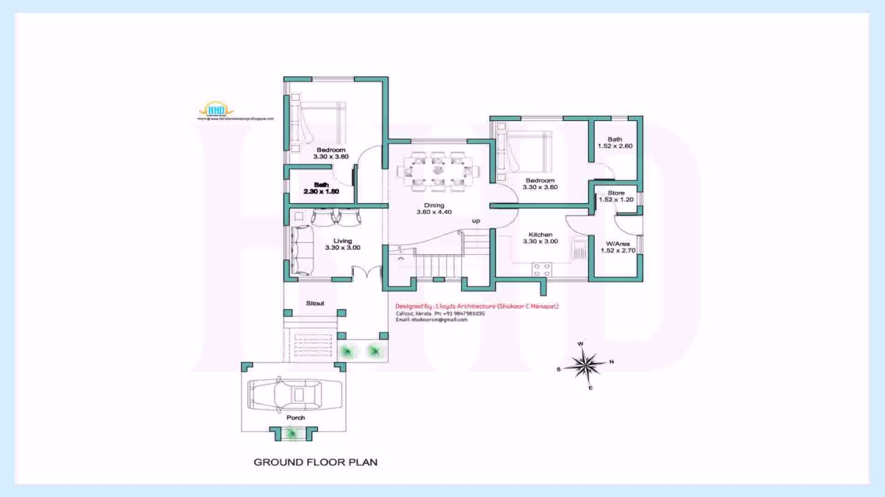 Kerala style house plans within 1000 sq ft youtube for Kerala model house plans 1000 sq ft