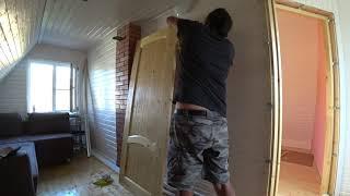 Обзор и установка двери массив хвоя из (леруамерлен).