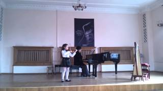 Г.Гендель Тема с вариациями, Рыбина Анна,6 лет,1 класс ХССМШИ,скрипка