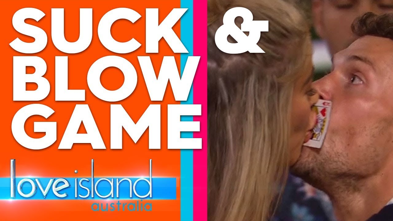 'Suck and Blow' game sees unlikely Islanders make out | Love Island Australia 2019