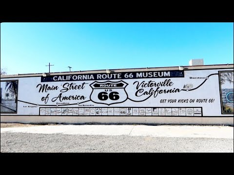 1249 California ROUTE 66 MUSEUM In Victorville The Mother Road  - Jordan Travel Vlog (2/19/20)