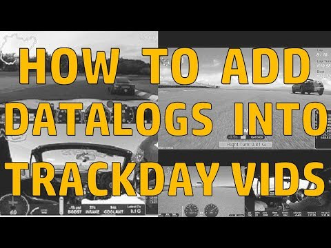 How To:  Add performance data to trackday videos.