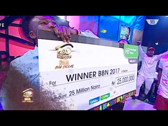 The Winner of BBNaija is Efe |  Big Brother: See Gobe | Africa Magic