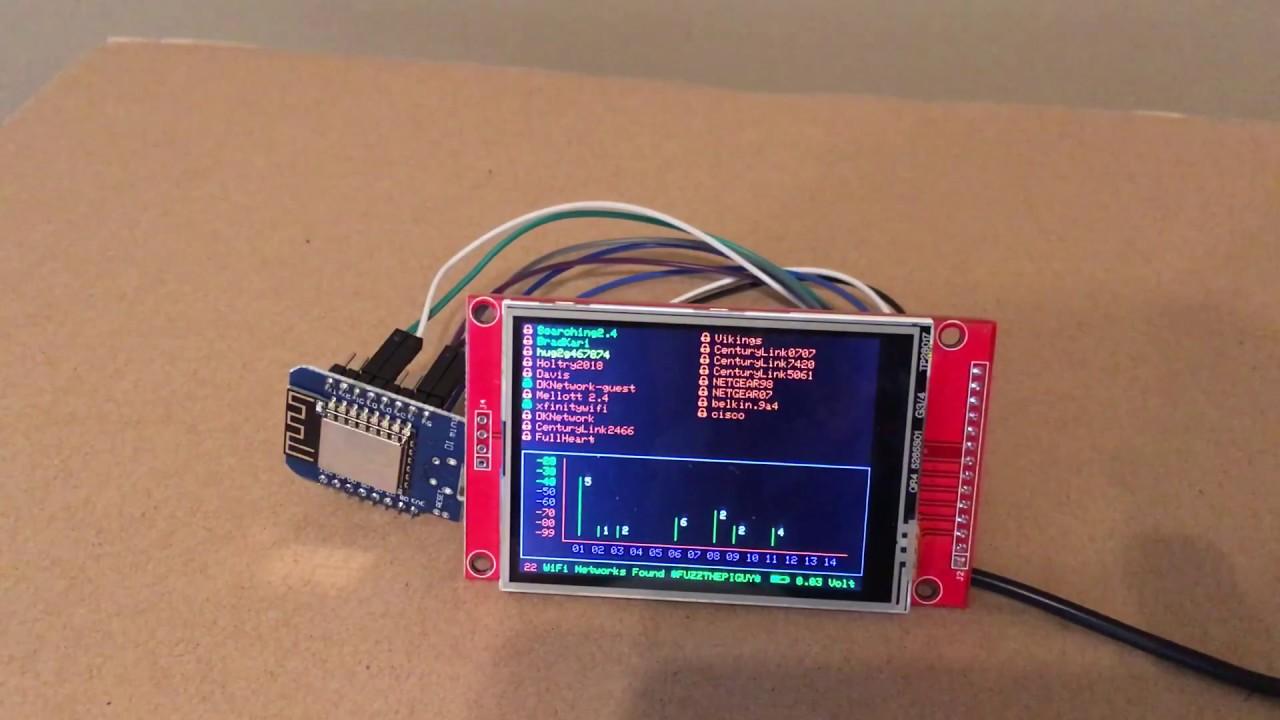 ESP8266 WiFi Scan by Joaquim Pereira