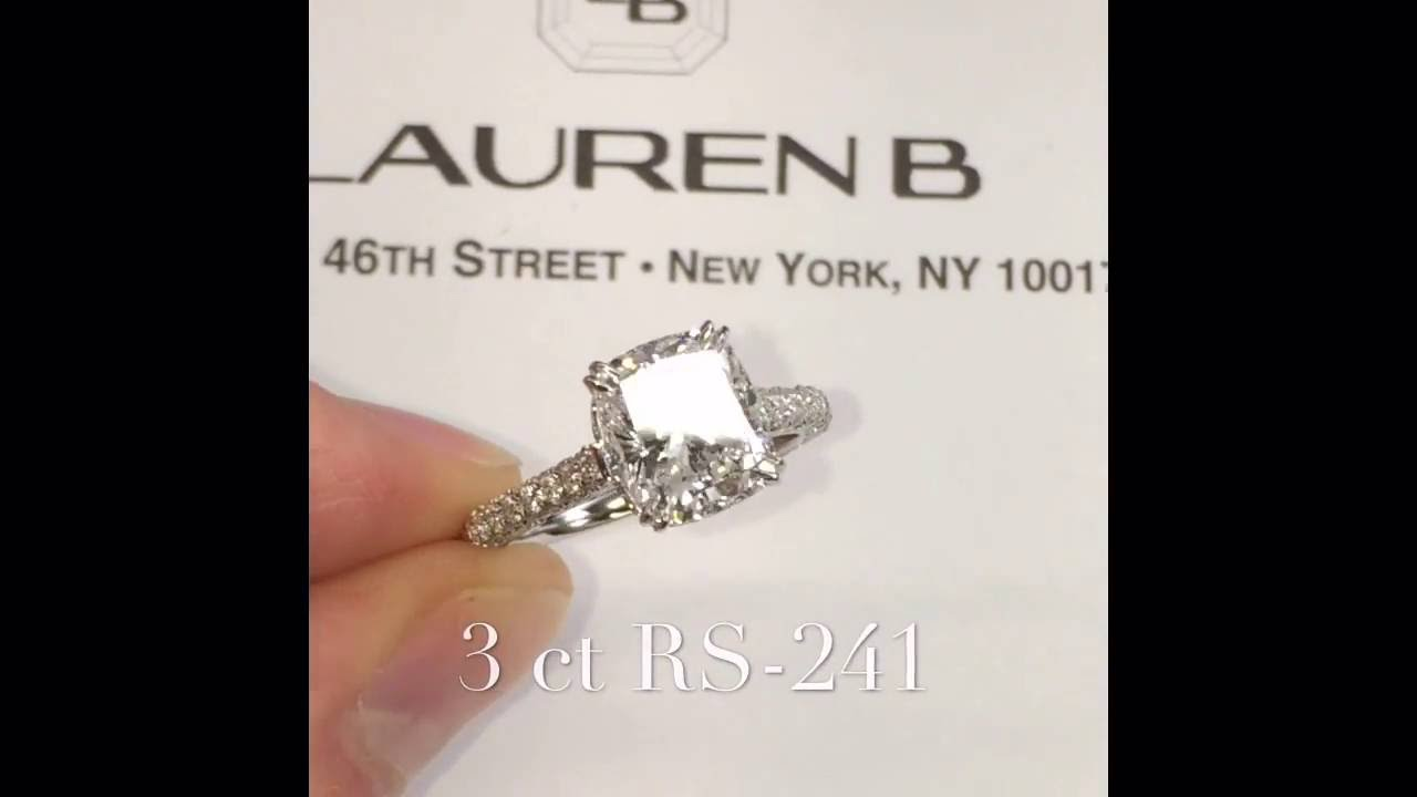 3 Carat Cushion Cut Diamond Engagement Ring