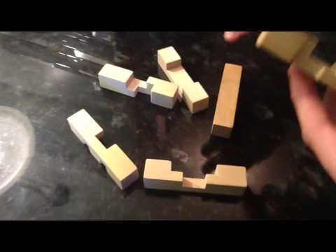 Dollar Store Wood Puzzle. How To Solve