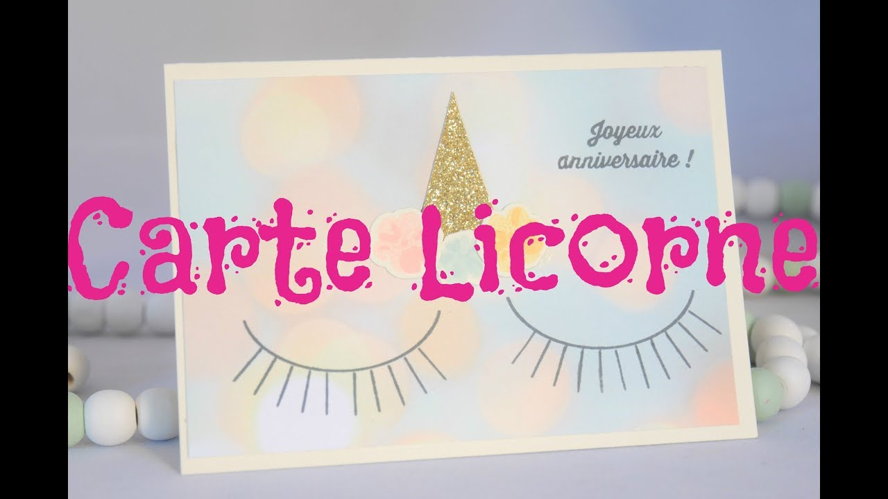 Une Carte Licorne Tres Simple Youtube