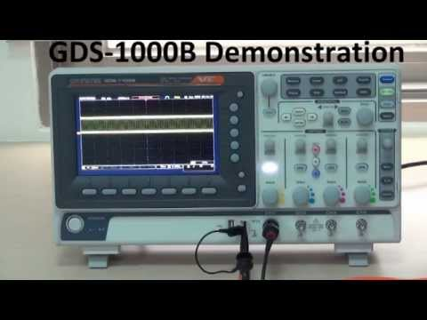 GW Instek - Digital Storage Oscilloscope GDS-1000B Demonstration