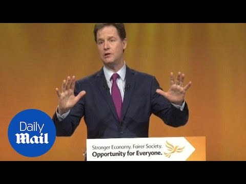 'Cows moo, dogs bark, Tories cut': Clegg's scathing attack - Daily Mail