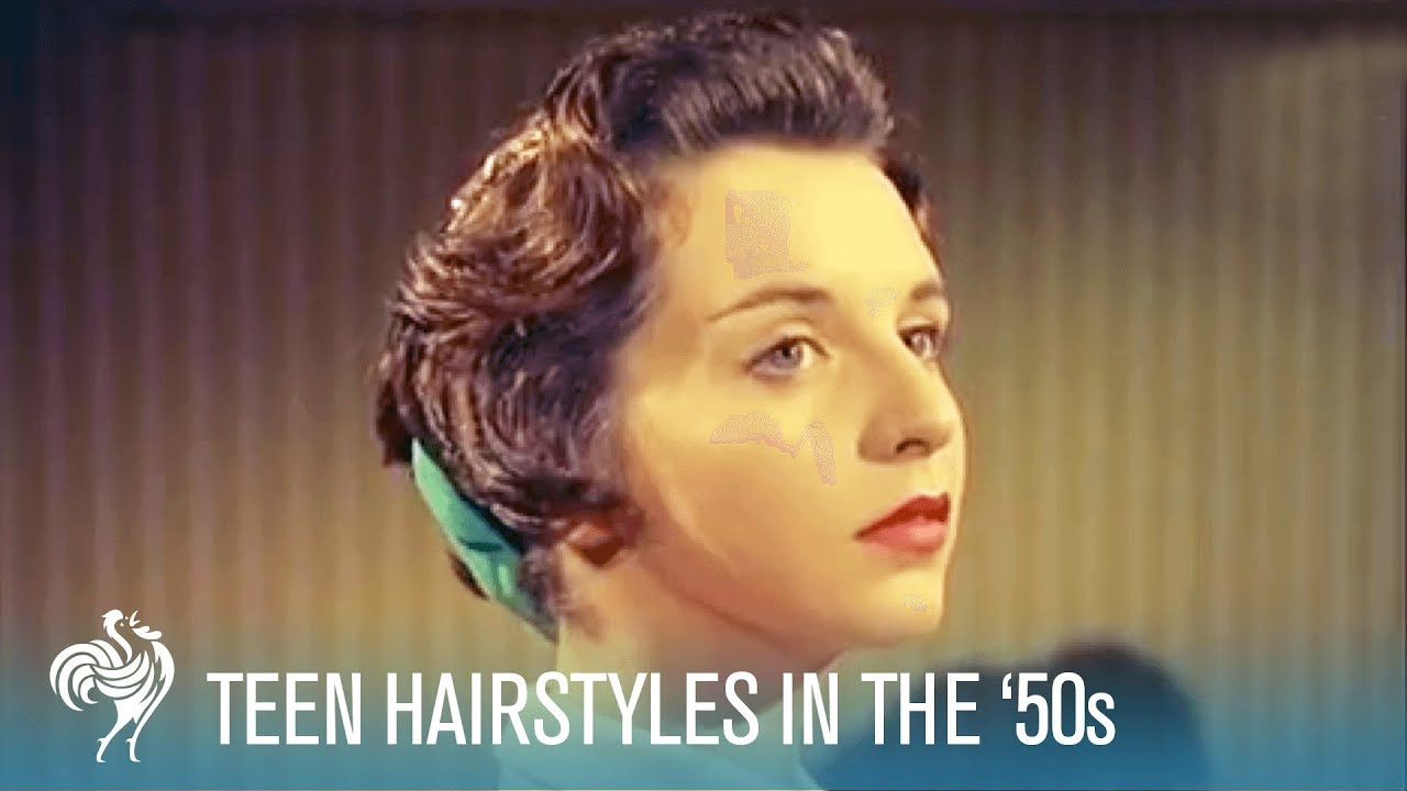 teenage hairstyles of the '50s: techniques & accessories (1956) | british pathé