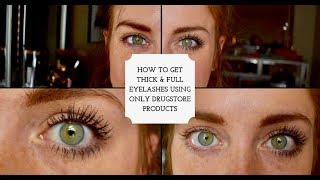 FULL, THICK, AND VOLUMINOUS EYELASHES USING ONLY DRUGSTORE PRODUCTS AND NO FAKE LASHES