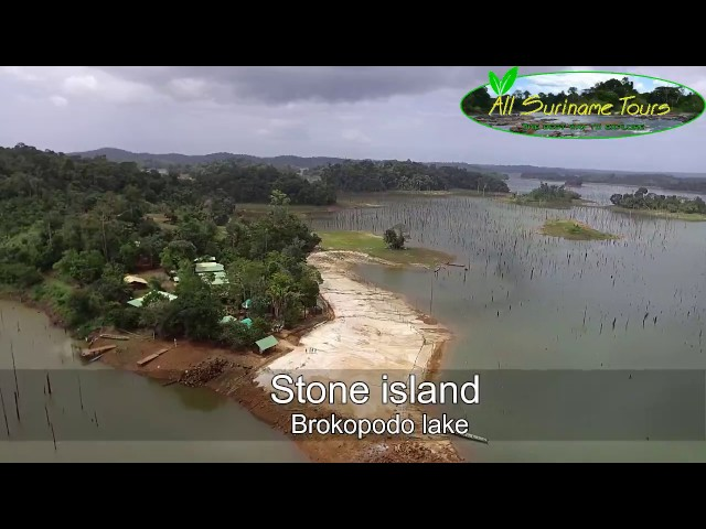 Drone flight above some parts of Suriname