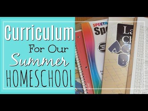 Summer Homeschool Curriculum Plans
