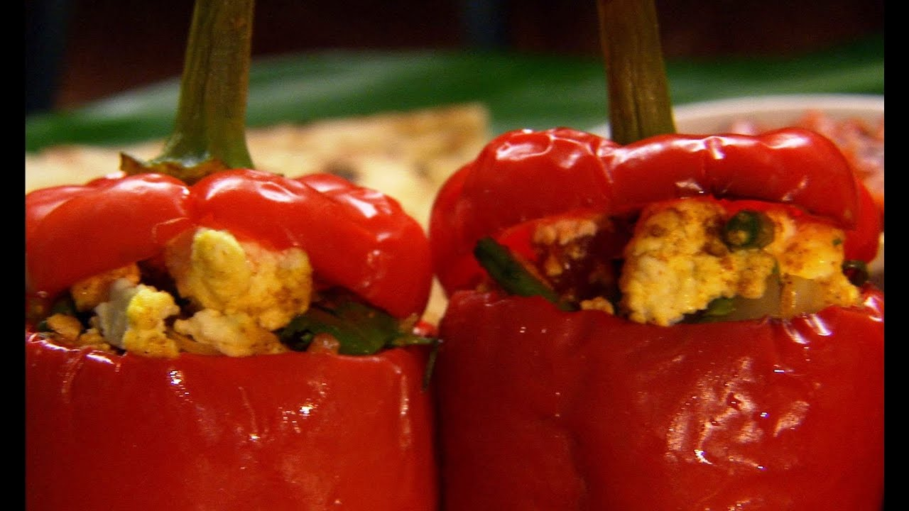 Paneer stuffed peppers indian food made easy with anjum anand paneer stuffed peppers indian food made easy with anjum anand bbc food youtube forumfinder Choice Image