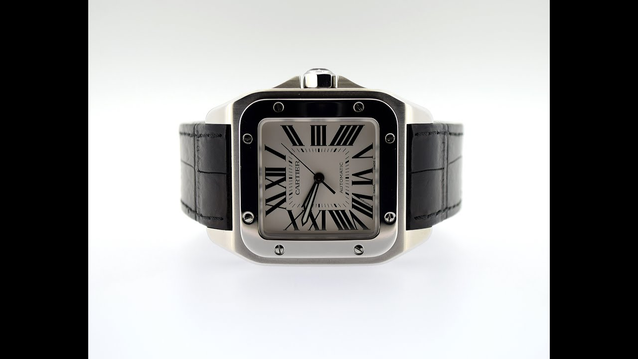 68c09e9c340 Cartier Santos 100 Large W2073X8 Watch Overview HD - YouTube
