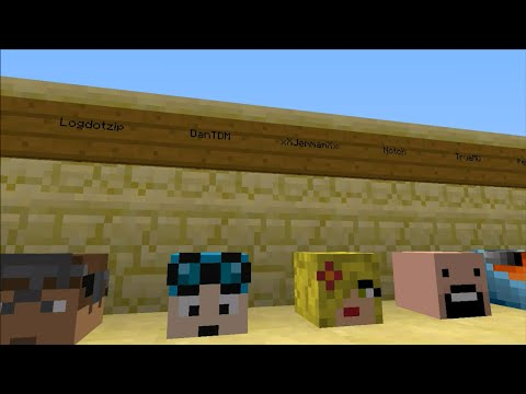 minecraft how to get youtubers heads