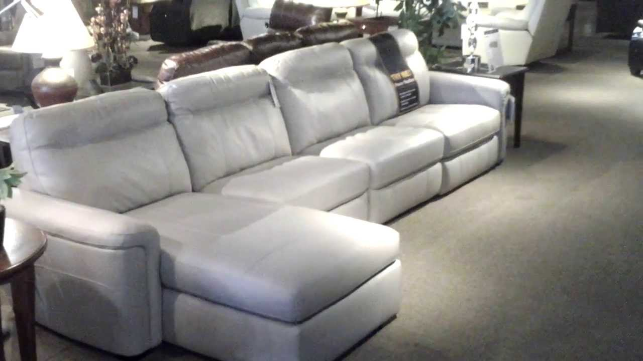 Palmero dove gray all leather power recliner sectional & Palmero dove gray all leather power recliner sectional - YouTube islam-shia.org