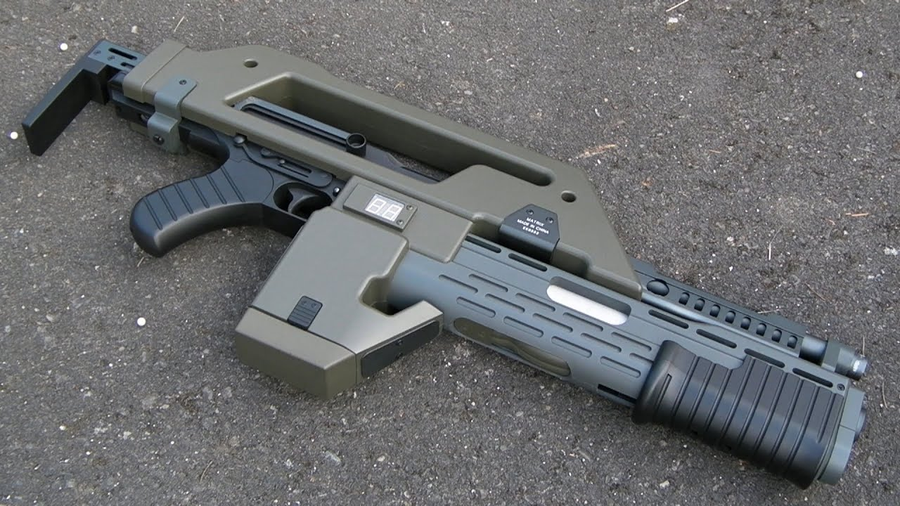 aliens m41a pulse rifle review snow wolf youtube. Black Bedroom Furniture Sets. Home Design Ideas
