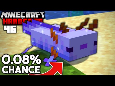 I Found the RAREST Axolotl in Minecraft Hardcore (#46)